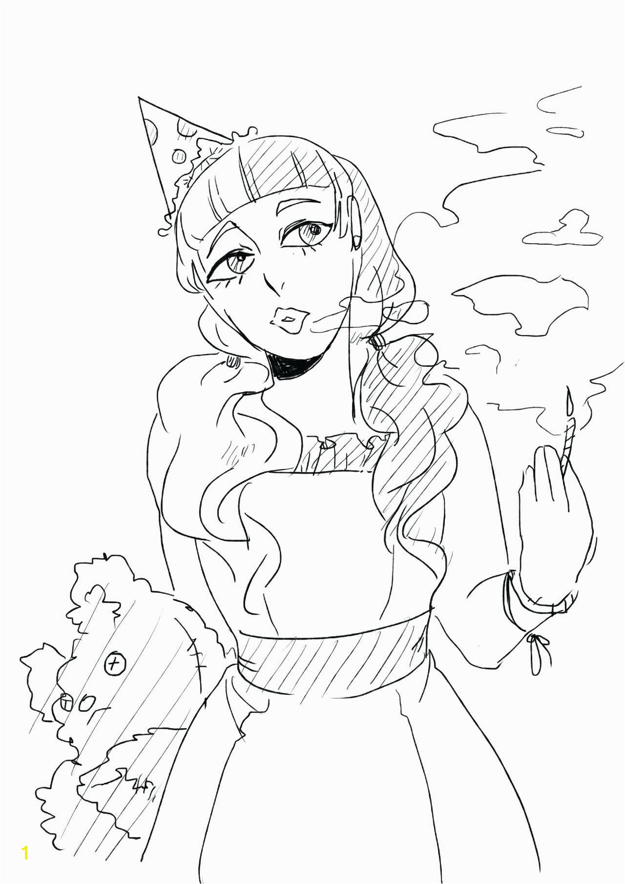 Melanie Martinez Coloring Pages Printable Fresh Melanie Martinez Cry Baby Coloring Book Pages Flower