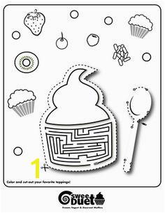 SweetDuet Frozen Yogurt & Gourmet Muffins coloring page design