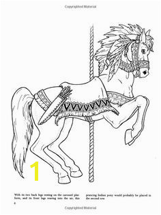 carousel horse merry go round horse Coloring Pages