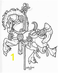 Carousel Horse Designs carousel horse merry go round horse coloring pages