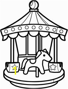 13 Meticulously Rendered Carousel Coloring Pages for Boys and Girls Coloring Pages