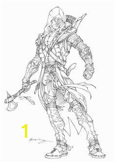 Assassins Creed 3 Connor by Patrick Hennings Coloring Pages For Girls Coloring Books