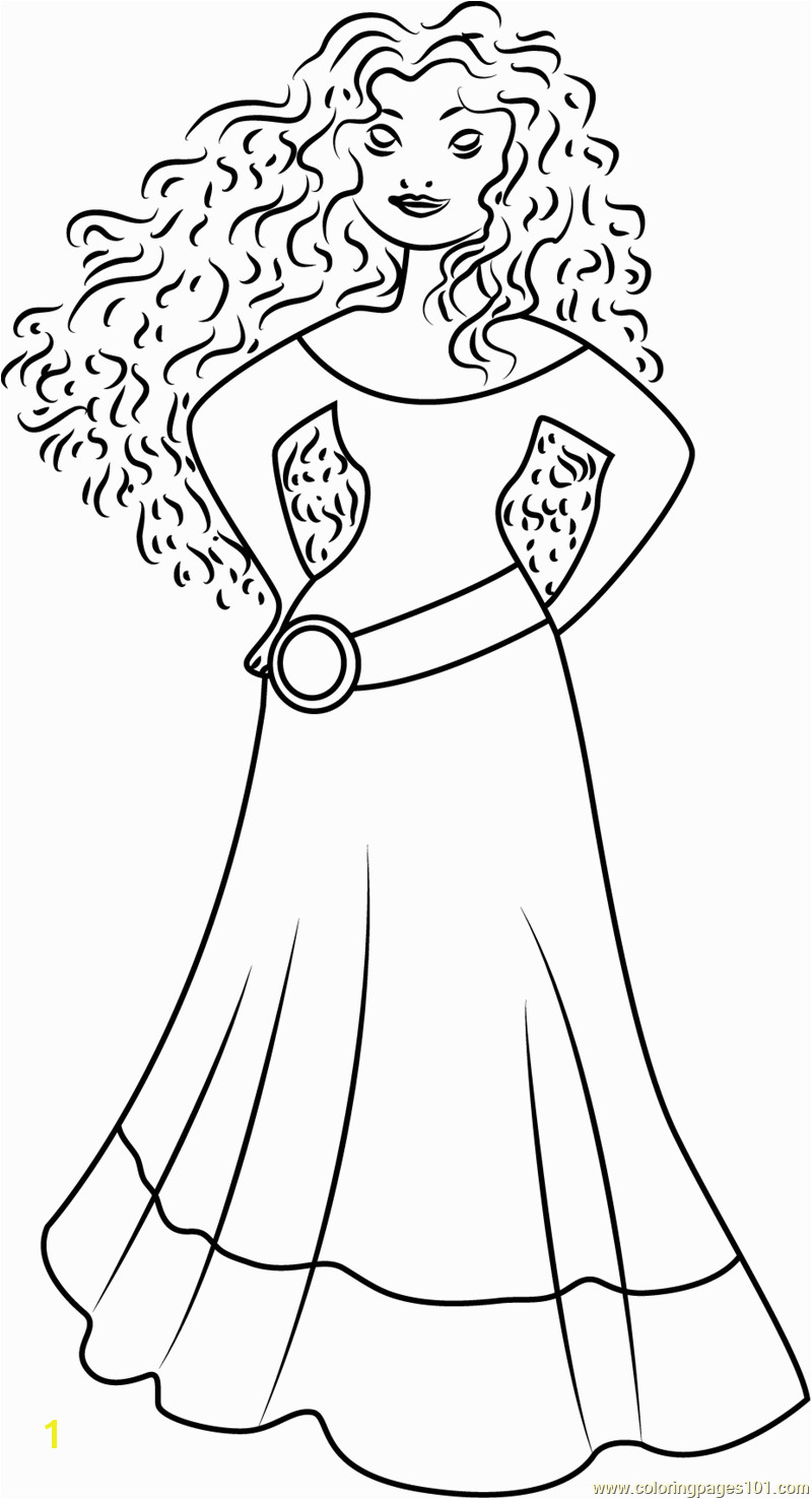 Coloring Princess Merida Coloring Page Free Brave Pages with Fans Request Disney Princess with Merida From