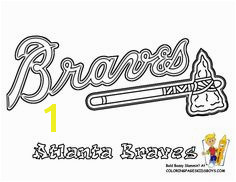 Atlanta Braves Coloring Page Baseball Team See n Crayon Match Team Colors At