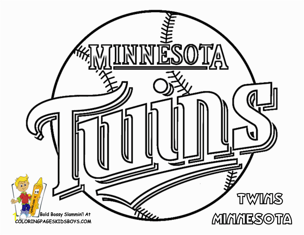 Mets Coloring Pages Twins Logo Color Book