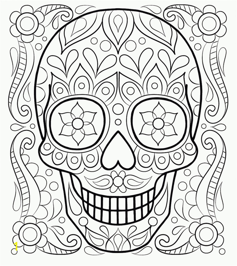 calaveras y catricas para colorear 1 Free Printable Coloring Pages