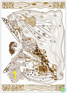 Mia and me · Animes Tv Coloring Pages To Print Gustav Klimt Colorful 4th Birthday