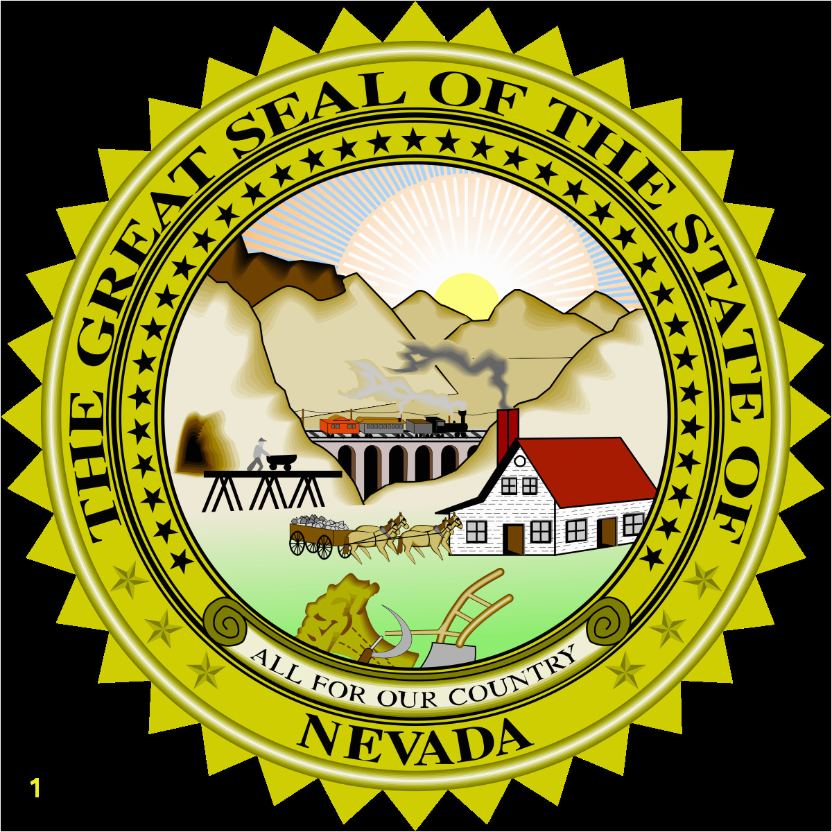 Michigan State Seal Coloring Page Seal Of Nevada