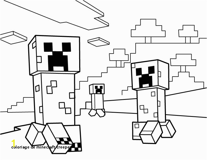 Coloriage De Minecraft Creeper Minecraft Drawing at Getdrawings