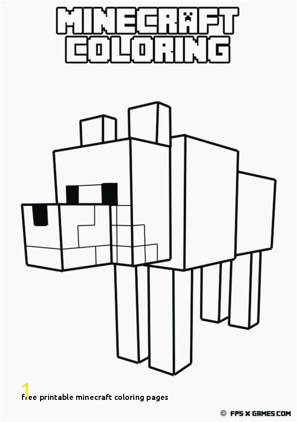 Minecraft Coloring Pages Free Free Printable Minecraft Coloring Pages Awesome Cat Coloring Pages