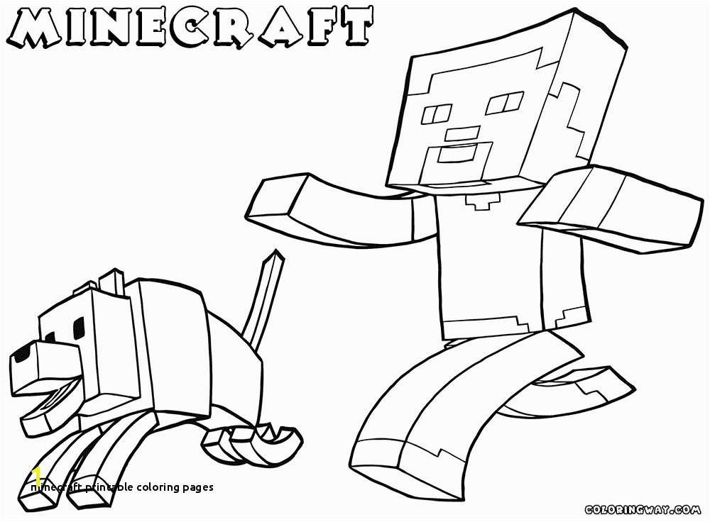 Minecraft Printable Coloring Pages Dogman Coloring Pages Free