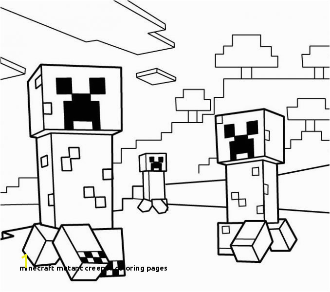 30 Minecraft Mutant Creeper Coloring Pages
