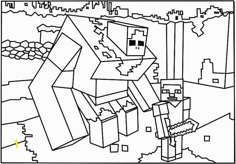 Minecraft Colouring Pages Free Printable