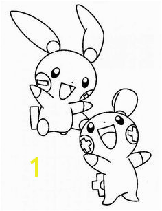 Plusle and Minun Legendary Pokemon Coloring Page Pokemon Coloring Pages Cartoon Coloring Pages Coloring