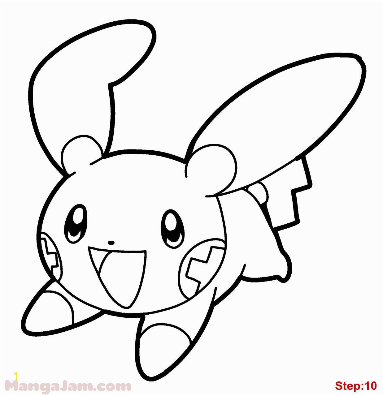 Minun Coloring Pages Plusle and Minun Electric Pokemon Coloring Page Schön Malvorlagen Pokemon Free Pokemon