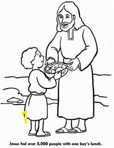 Billedresultat for jesus feeds the 5000 coloring page