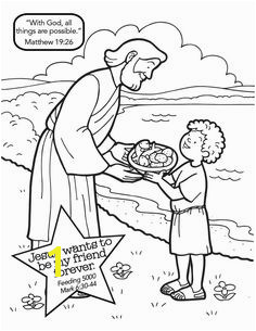 Jesus Feeds The 5000 Mark 630 44 Pinner Has Nice Coloring Pages AZ Coloring Pages