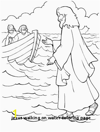 Jesus Walking Water Coloring Page Jesus Walks Water Coloring Page Best 368 Best Kids Miracles