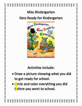 Miss Bindergarten Gets Ready For Kindergarten Activities Teaching Resources