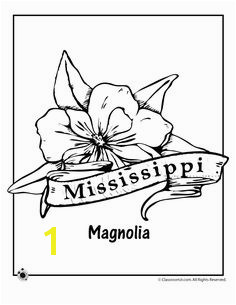 State Flower Coloring Pages Mississippi State Flower Coloring Page – Classroom Jr Flower Coloring Pages
