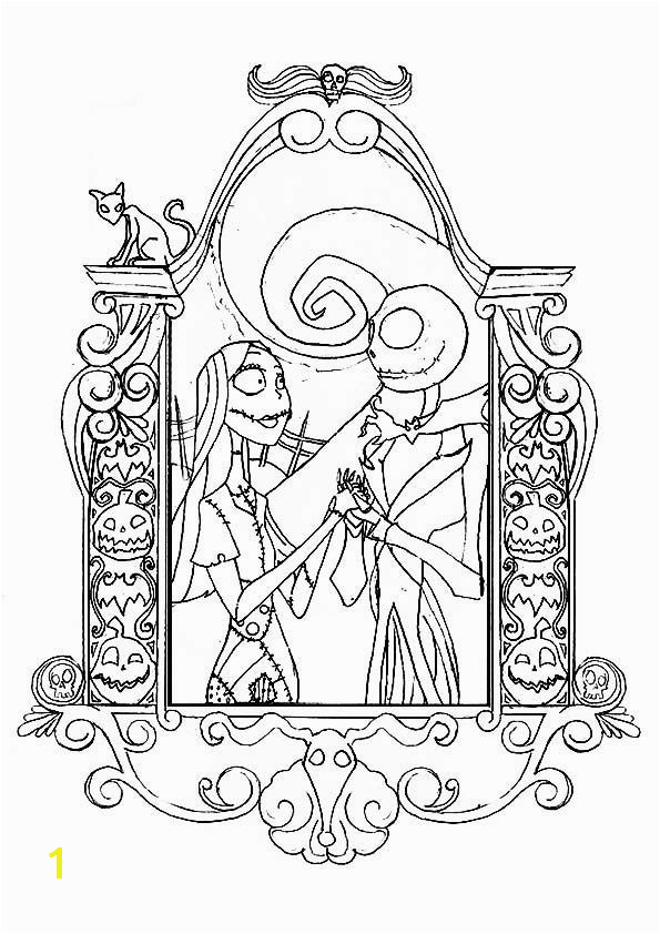Top 25 Nightmare Before Christmas Coloring Pages for Your Little es print coloring image MomJunction