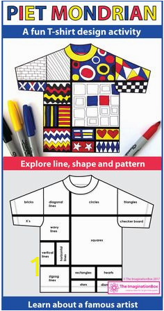 Mondrian Art Activity Explore Shape and Line