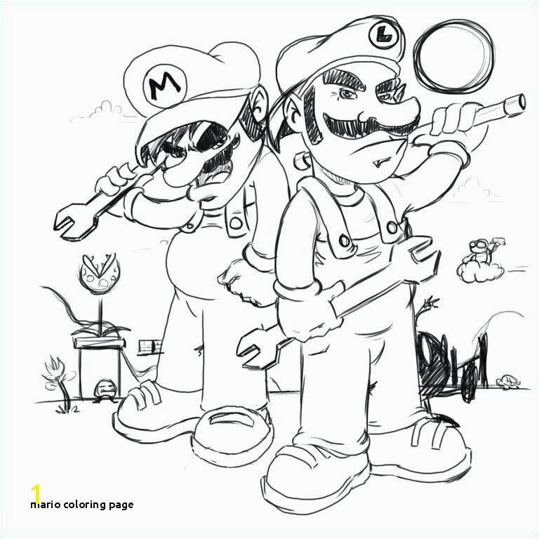Luigi Coloring Pages Unique Mario Coloring Page Coloring Pages Mario Fall Coloring Pages 0d Page