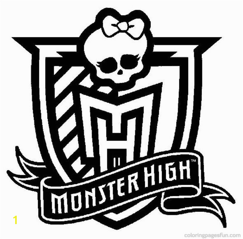 Monster High Monster High Logo Coloring Pages Free Printable Coloring Pages Coloringpagesfun
