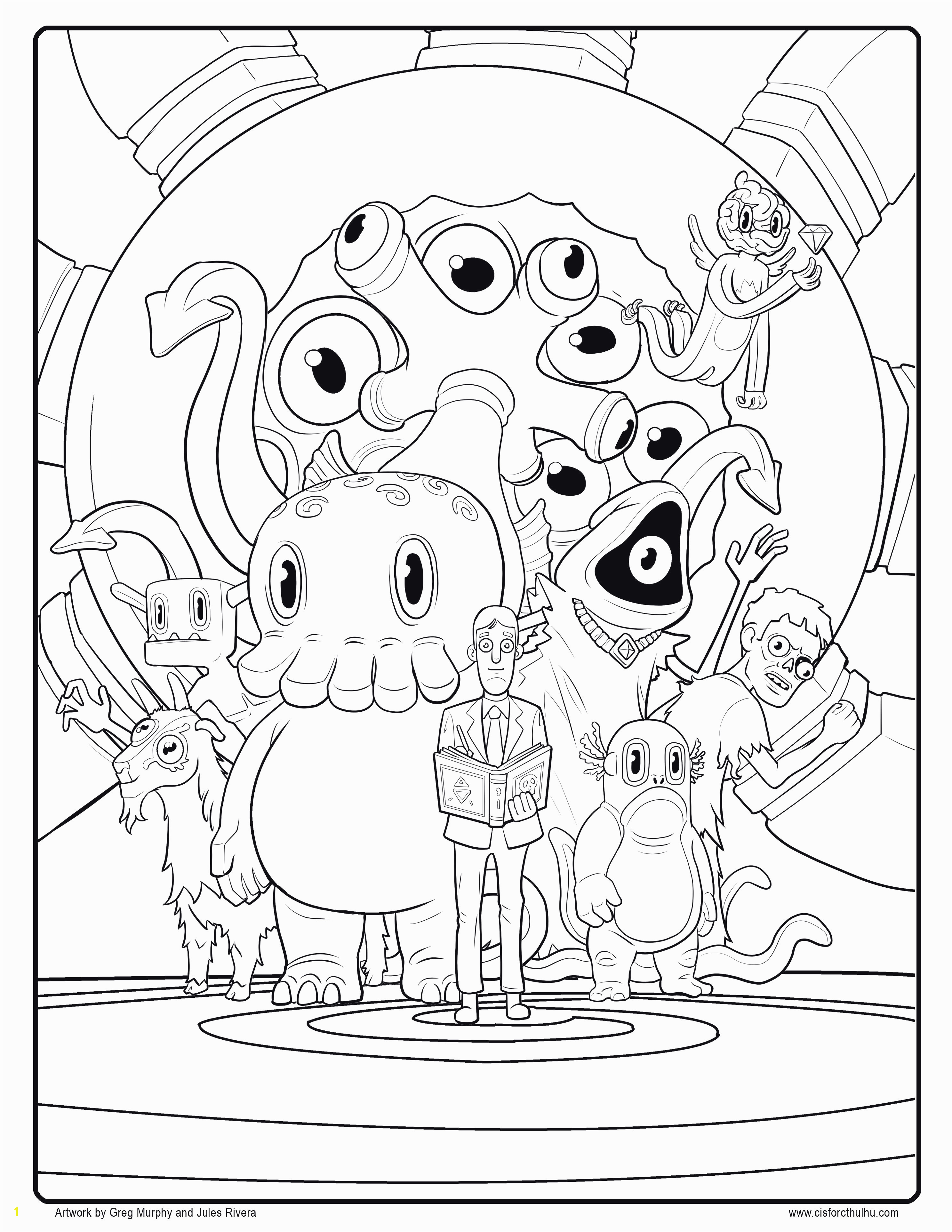 Monster Inc Coloring Pages Monsters Inc Coloring Pages