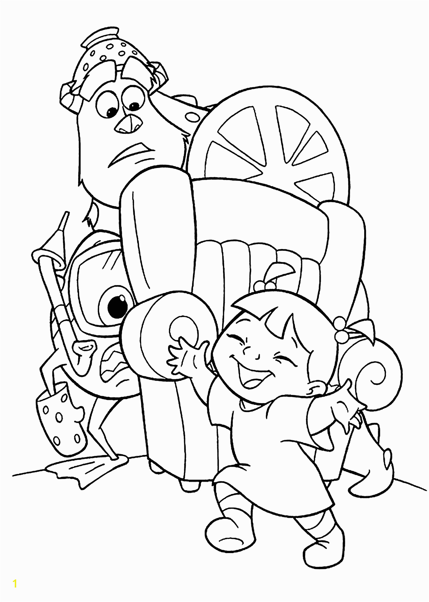 Sully Monsters Inc Coloring Page Coloring Games