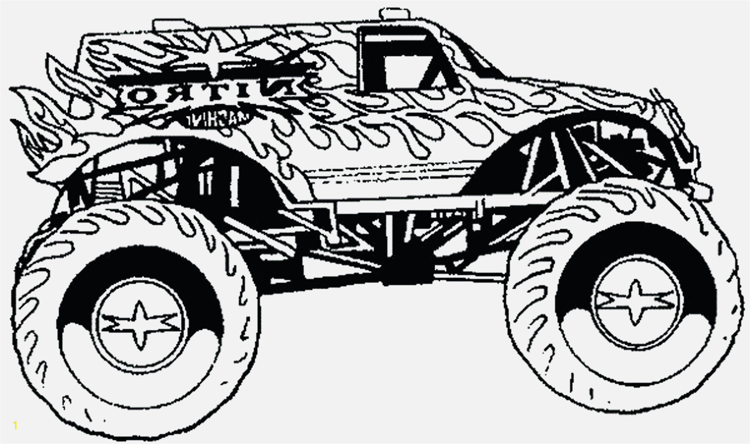Coloring Pages Monster Trucks Printable Coloring Pages Monster Truck Coloring Sheet