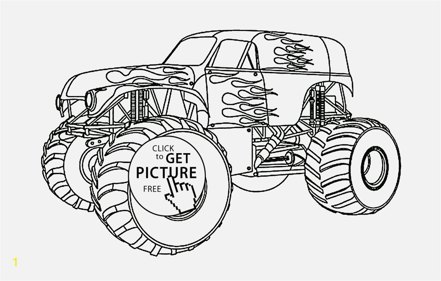 Monster Truck Coloring Pages Verschiedene Bilder Färben Printable Macqueen Monster Truck Cars Coloring Page for Kids