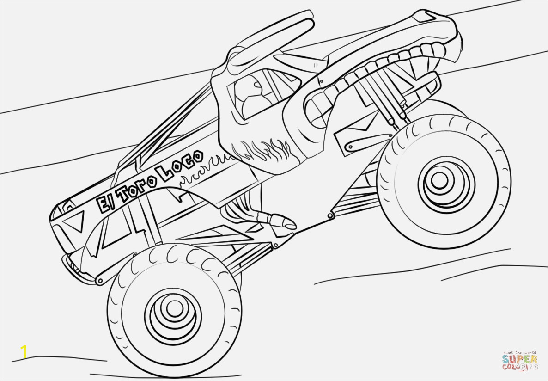 Monster Truck Coloring Pages Bilder Zum Ausmalen Bekommen El toro Loco Monster Truck Coloring Page