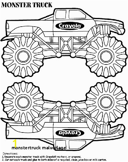 Monstertruck Malvorlage Monstertruck Malvorlage Monster Truck Box Coloring Page Diy