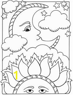 Moon sun Moon Coloring Pages Coloring Sheets Coloring Books Sun Moon Stars