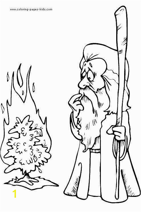 Moses and Joshua Coloring Pages New Moses and Burning Bush Coloring Pages Unique Moses Burning Bush