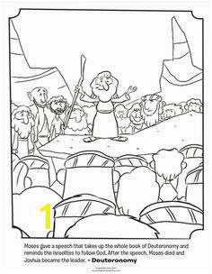 Kids coloring page from What s in the Bible featuring Moses giving a speech from Deuteronomy