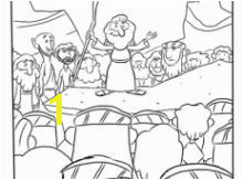 Moses Giving Speech Coloring Page Bible Lessons For Kids Bible For Kids Desert Trip