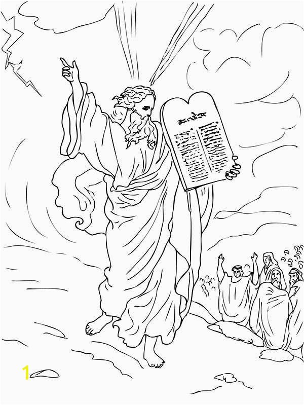 Moses and Joshua Coloring Pages Ten Mandments Ten Mandments for Moses People Coloring Page