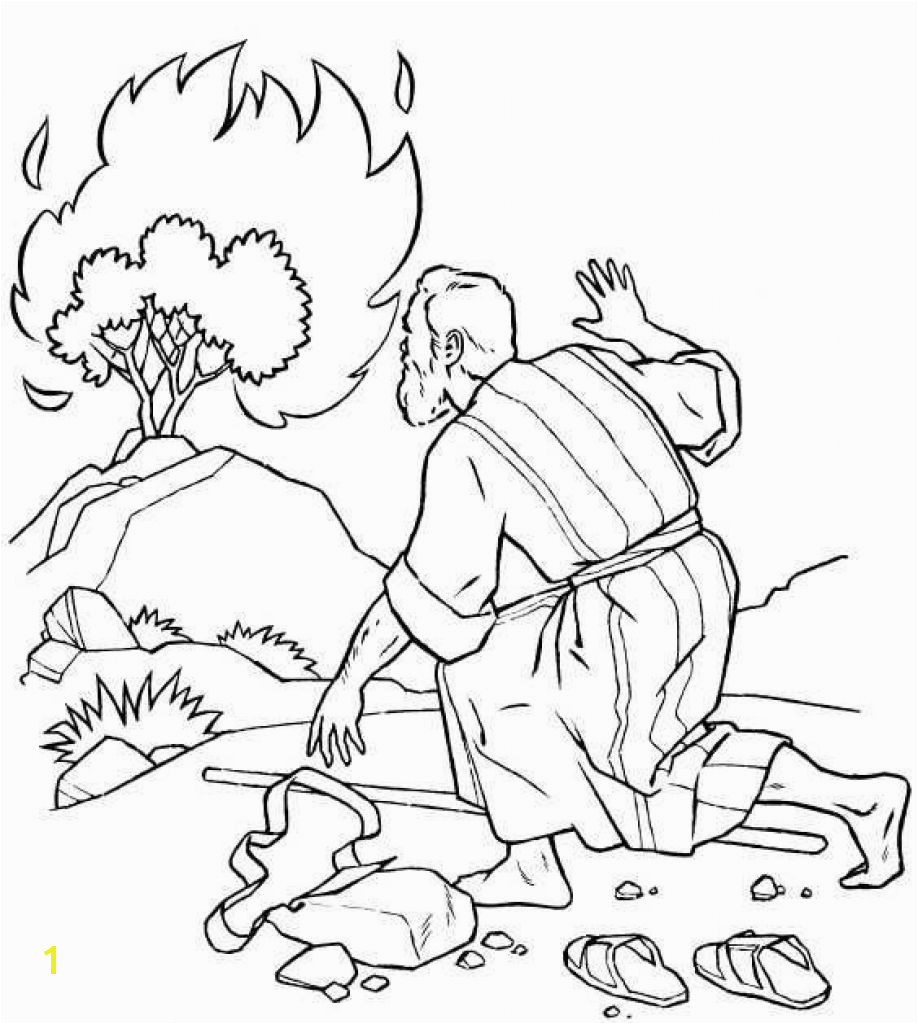 The Incredible Moses Burning Bush Coloring Page to Encourage in coloring images