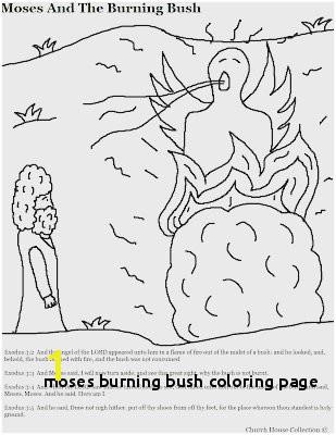Moses Burning Bush Coloring Page Fabulous Moses and the Burning Bush