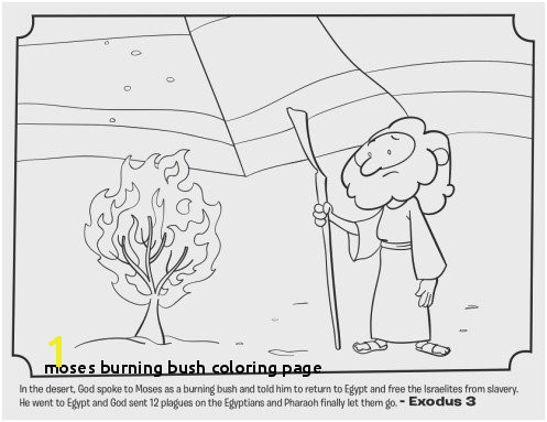 27 Moses Burning Bush Coloring Page