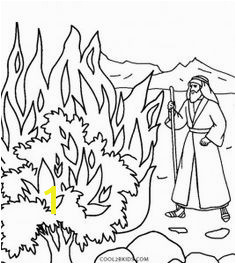 Moses and the Burning Bush Coloring Pages Preschool Bible Toddler Preschool Coloring Pages For