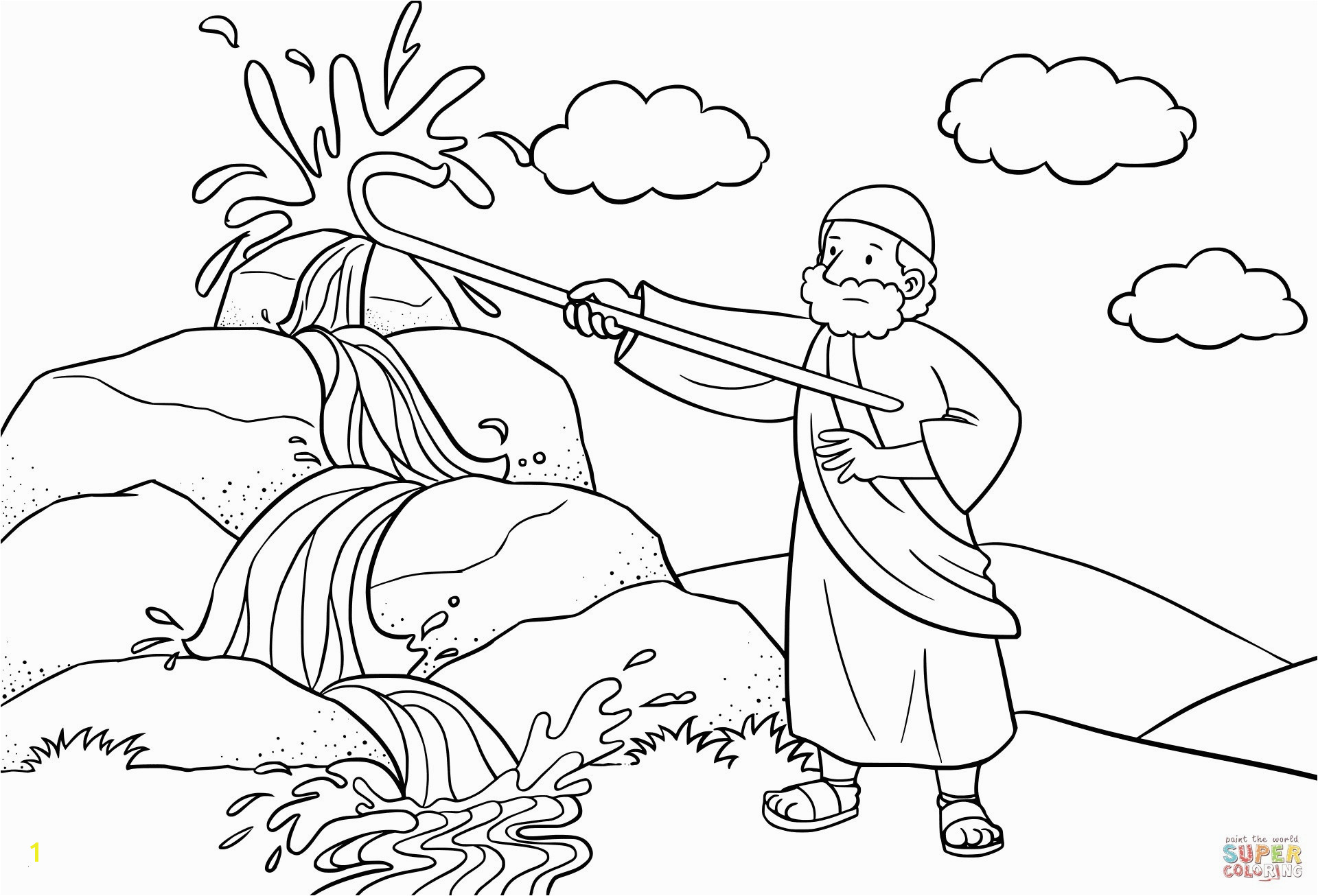 Moses Burning Bush Coloring Page Inspirational Moses Burning Bush Coloring Page Beautiful God Speaks to Moses
