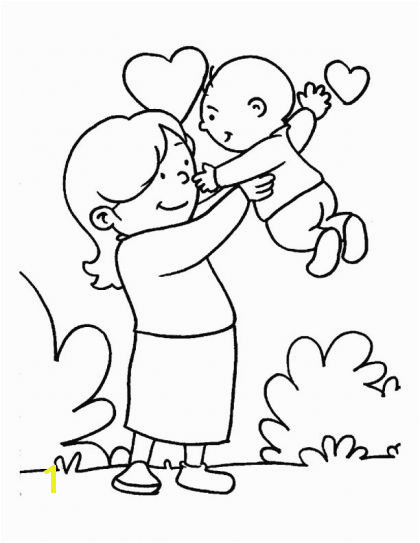 In the loving care of her Mom coloring page Download Free In the loving care of her Mom coloring page for kids