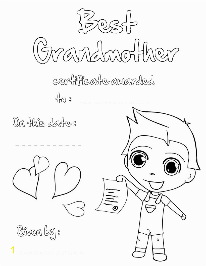 Best Grandmother Printable Certificate Best Grandmother Printable Certificate Me and Grandma Coloring Page