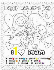 English Worksheets Happy mother´s day coloring by number