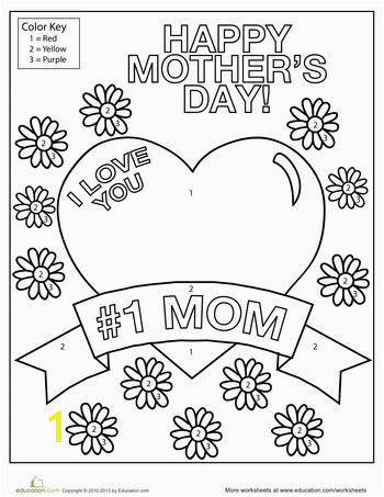 Worksheets Mothers Day Coloring Page