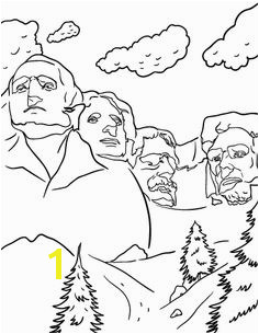 Printable Mount Rushmore coloring page Free PDF at coloringcafe