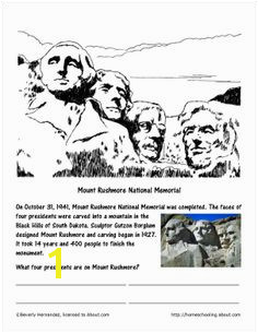 Parachute Coloring Page October Worksheets Mount Rushmore Coloring Page